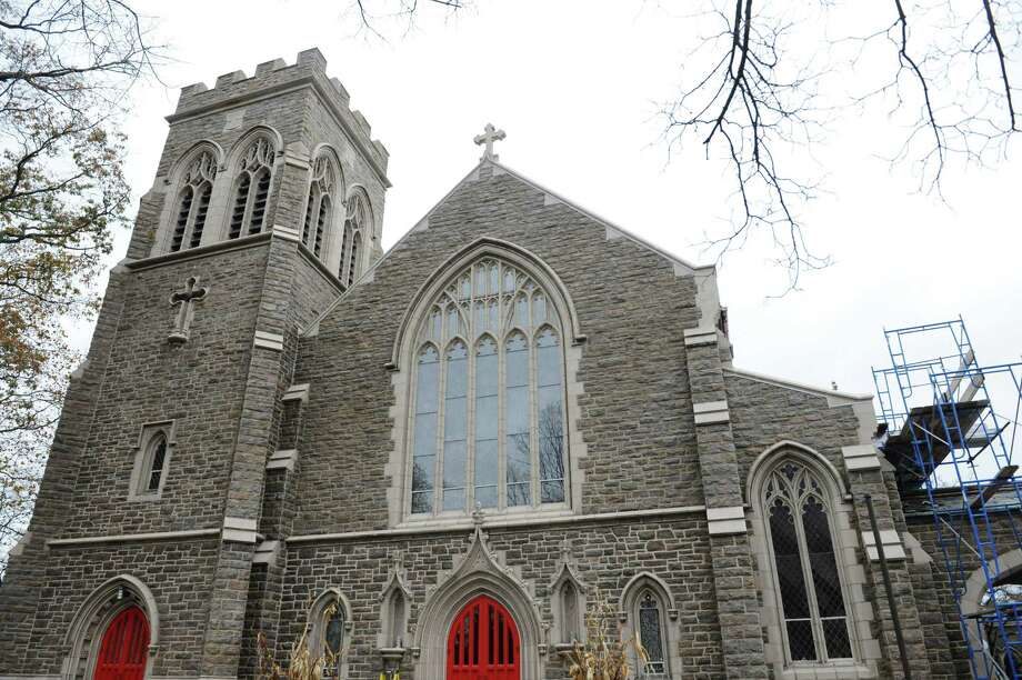 Members of Christ Church Greenwich will be honored by the Greenwich Preservation Trust for preservation of the 1910 building on Saturday. Photo: Tyler Sizemore / Hearst Connecticut Media / Greenwich Time