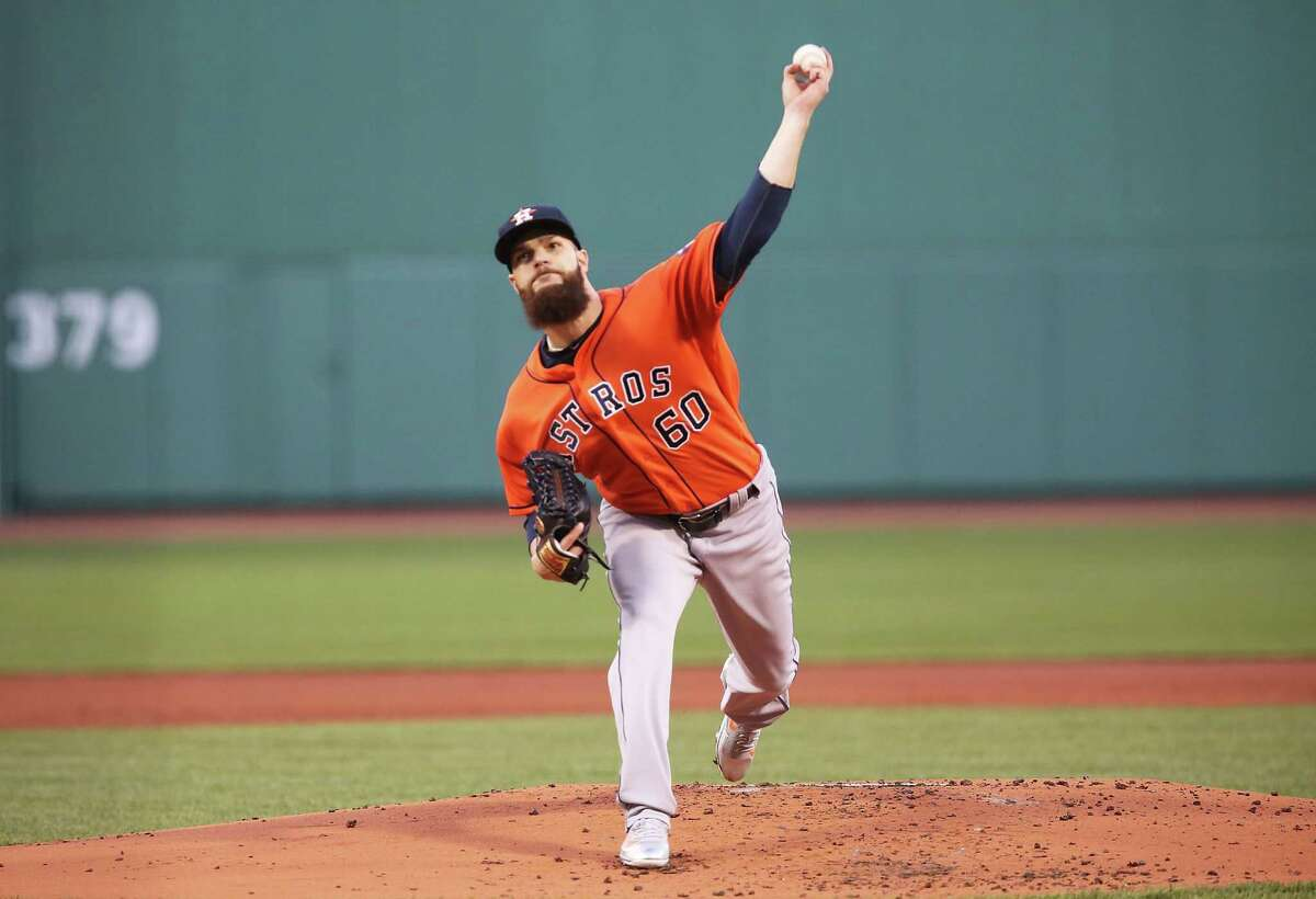 BOSTON, MA - MAY 12: Dallas Keuchel #60 of the Houston Astros delivers in the first inning during the game against the the Boston Red Sox at Fenway Park on May 12, 2016 in Boston, Massachusetts.
