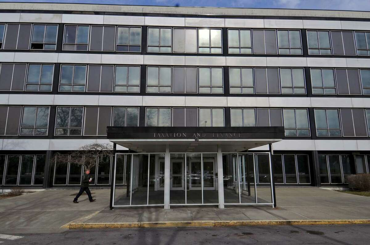 View of one of the New York State Department of Taxation and Finance buildings at the Harriman State Office Building Campus on Wednesday Feb. 22, 2012, in Albany, N.Y. (Philip Kamrass / Times Union archive)