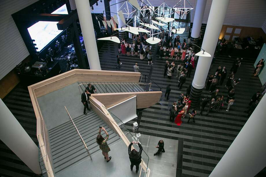 SFMOMA: If you like the staircase, you should see the restrooms. Photo: Santiago Mejia, Special To The Chronicle