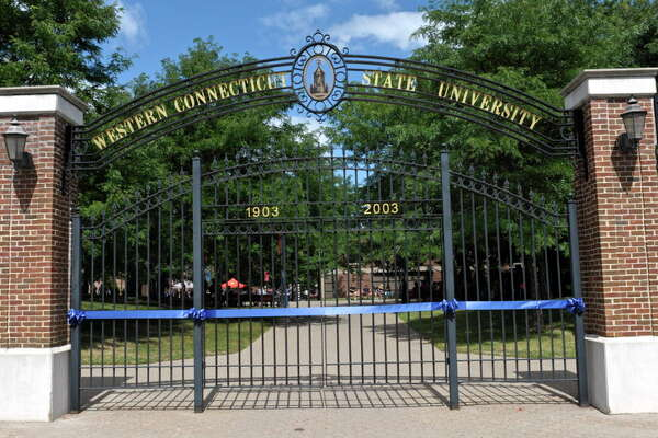 "Western Connecticut State University's ""Entering the Gate"" ceremony on the schools midtown campus has the incoming freshman class symbolically and physically entering the campus through the wrought-iron gates on the campus. Friday, August 28, 2015, in Danbury, Conn."