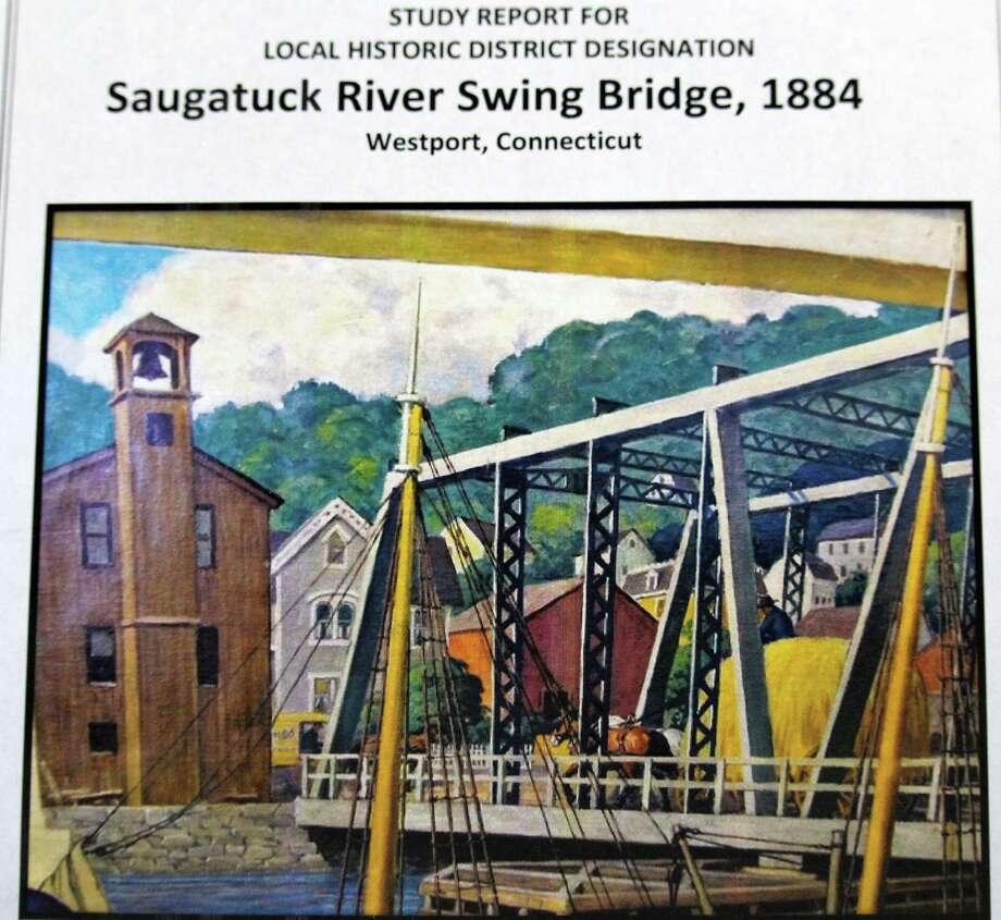 The cover page of the study report for local historic designation of the Saugatuck River swing bridge prepared by the Saugatuck Swing Bridge Study Subcommittee for consideration by other town bodies. Photo: Westport News / Chris Marquette / Westport News