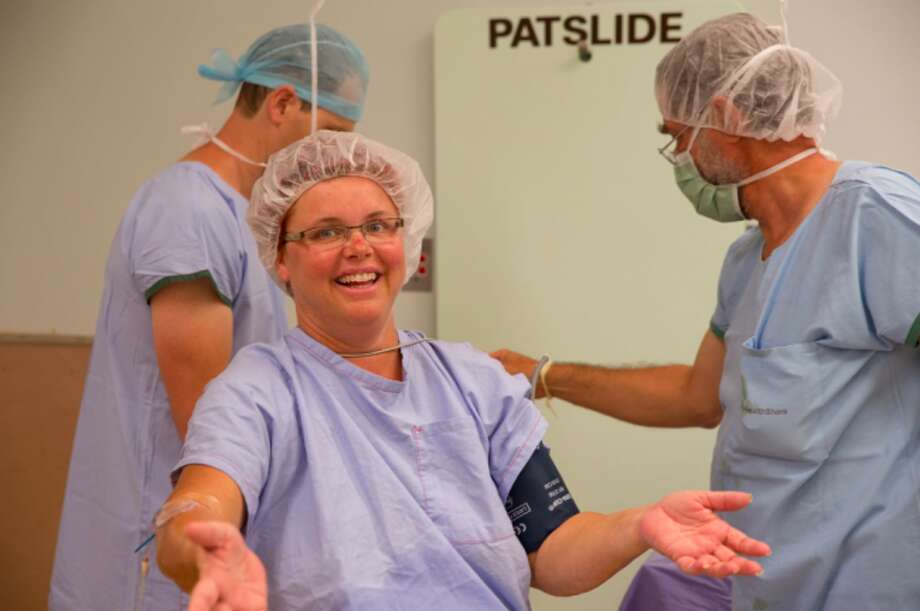 Gerri gets ready for surgery. Photo: Simone's Photography