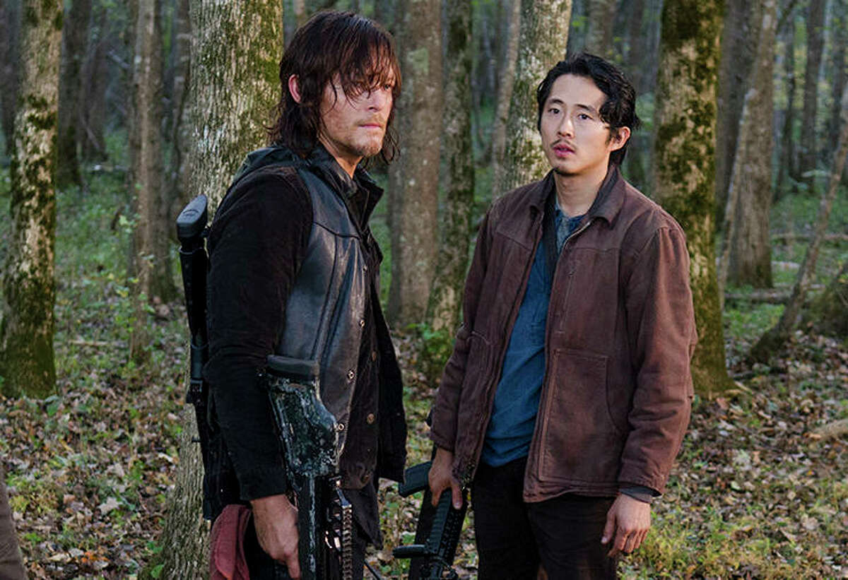 Norman Reedus and Steven YeunOn the scene TMZ reports that Reedus and Yeun were riding motorcycles in Georgia near the set of