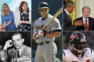 """Famous former Rice University students include (from left) """"Sex & the City"""" and """"Unbreakbale Kimmy Schmidt"""" creator Candace Bushnell, Houston Astros star Lance Berkman, Pulitzer and Oscar-winning writer Larry McMurtry, Houston Texas standout N.D. Kalu and industrialist Howard Hughes. (Getty Images composite)"""