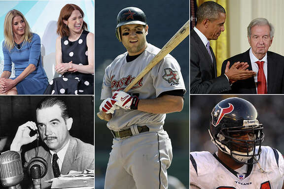"Famous former Rice University students include (from left) ""Sex & the City"" and ""Unbreakbale Kimmy Schmidt"" creator Candace Bushnell,  Houston Astros star Lance Berkman, Pulitzer and Oscar-winning writer Larry McMurtry, Houston Texas standout N.D. Kalu and industrialist Howard Hughes. (Getty Images composite)"