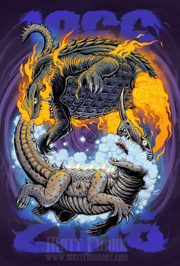 Gamera Vs Barugon Art By Matt Frank Heralds The Sunday