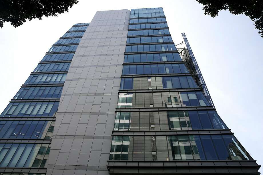 S.F.'s towering Public Utilities Commission building at 525 Golden Gate, above and below, opened in 2012 as the most energy- efficient edifice on the continent. Photo: Connor Radnovich, The Chronicle