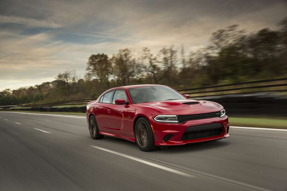 A file photo of a 2016 Dodge Charger SRT Hellcat, which packs the most horsepower of any production sedan made. A North Carolina Lyft driver was apparently driving an earlier model, less powerful SRT. Photo: Fiat Chrysler Automobiles