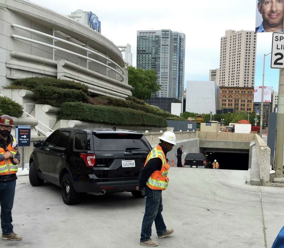 A construction worker was killed in an apparent accident at Moscone Center Friday morning. Police said the man was in the bucket of a cherry picker when he was killed.