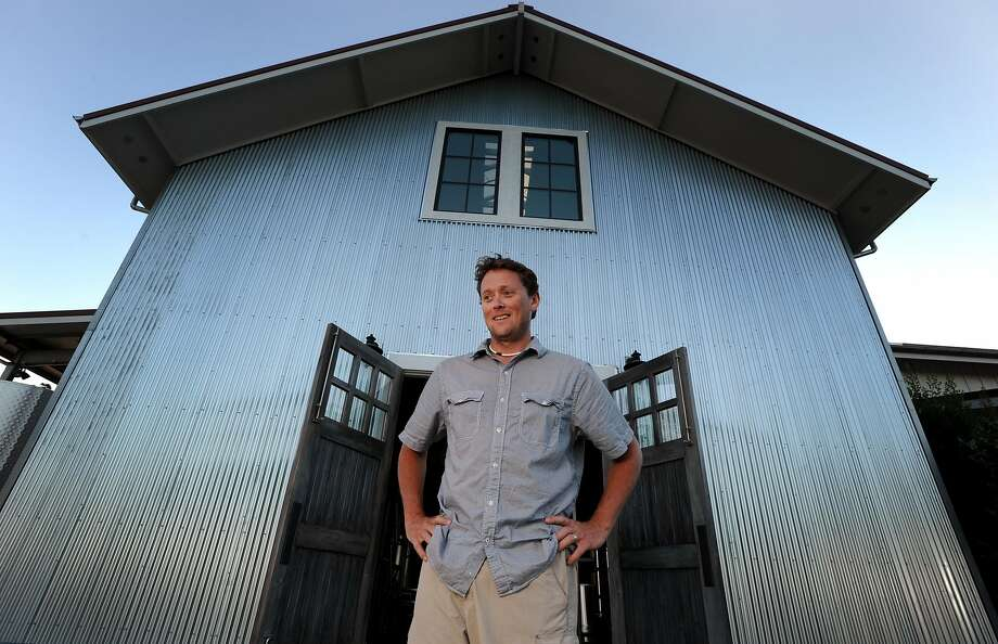 Winemaker Wells Guthrie outside of the fermentation room at Copain Winery in Healdsburg. Photo: Erik Castro, Special To The Chronicle