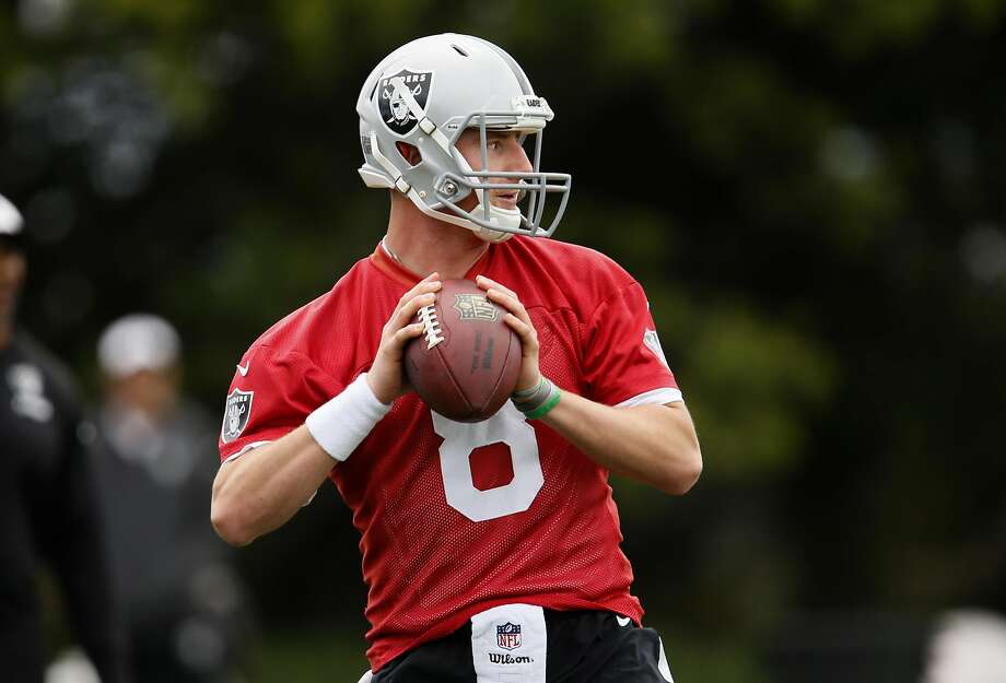 Quarterback Connor Cook, a rookie from Michigan State, Photo: Michael Macor, The Chronicle