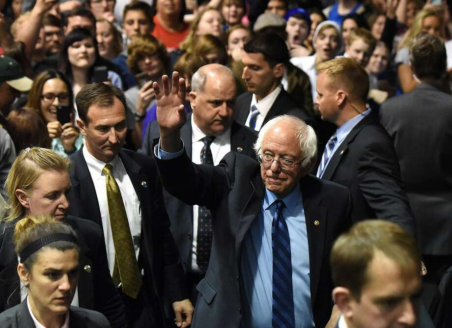 Democratic candidate Bernie Sanders insists he still has a narrow path to the party's presidential nomination. Supporters of Hillary Clinton are pressuring him to exit the race. Photo: Emily Spartz Weerheim, Associated Press