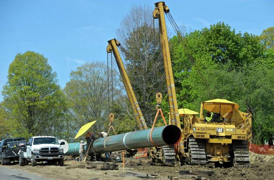 Gas Pipeline Pipe : Natural gas pipeline work underway in danbury newstimes