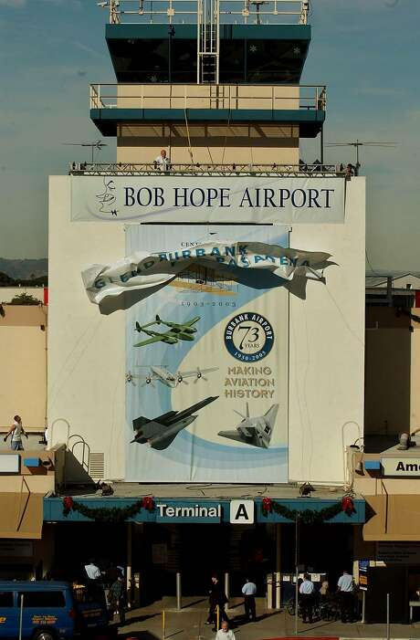 The Bob Hope Airport, renamed in 2003, is being rebranded as the Hollywood-Burbank Airport. Photo: RIC FRANCIS, AP
