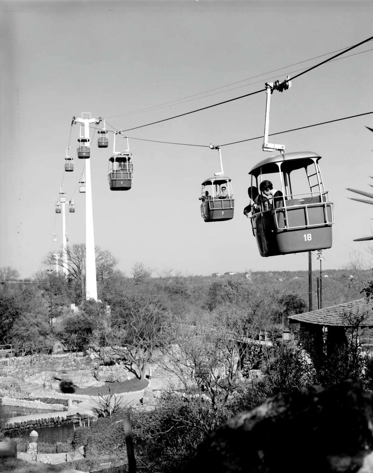 At one time, San Antonians could ride these trams above Brackenridge Park.
