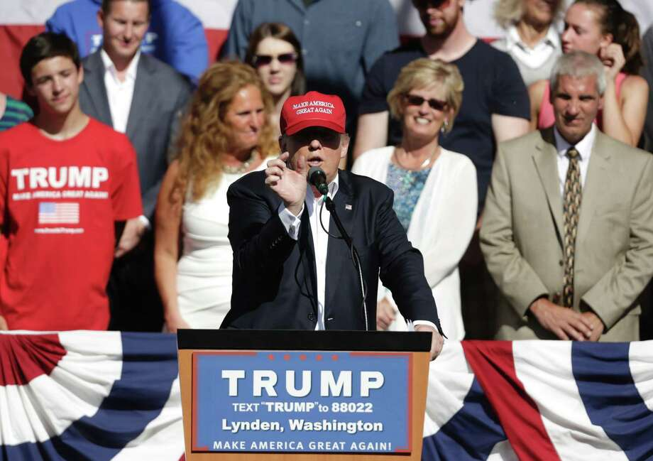 US Republican presidential candidate Donald Trump addresses a campaign rally at the Northwest Washington Fair and Event Center in Lynden, Washington on May 7. The candidate has broken the rules on election and won because many GOP voters agree with his blunt assessments. Photo: JASON REDMOND /AFP /Getty Images / AFP or licensors