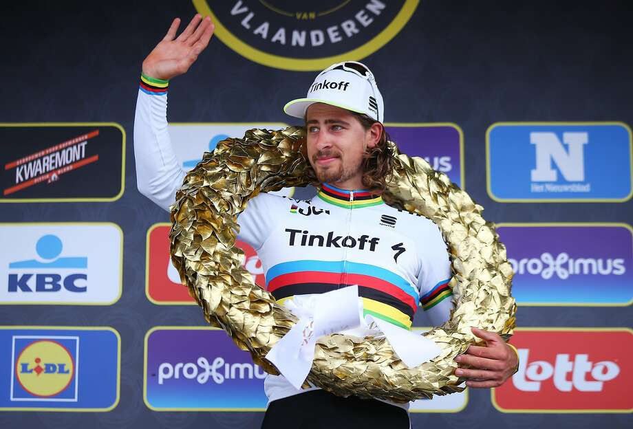 Peter Sagan of Slovakia won the Tour of Flanders on April 3, one of his two wons this spring. Photo: Bryn Lennon, Getty Images