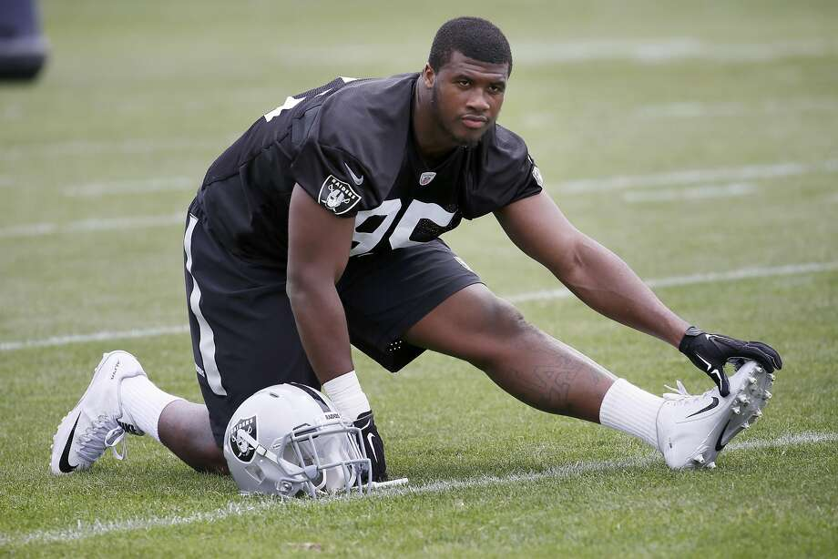 Defensive lineman Jihad Ward has had his struggles in his rookie season, but his coaches say he is on the verge of breaking out. Photo: Michael Macor, The Chronicle