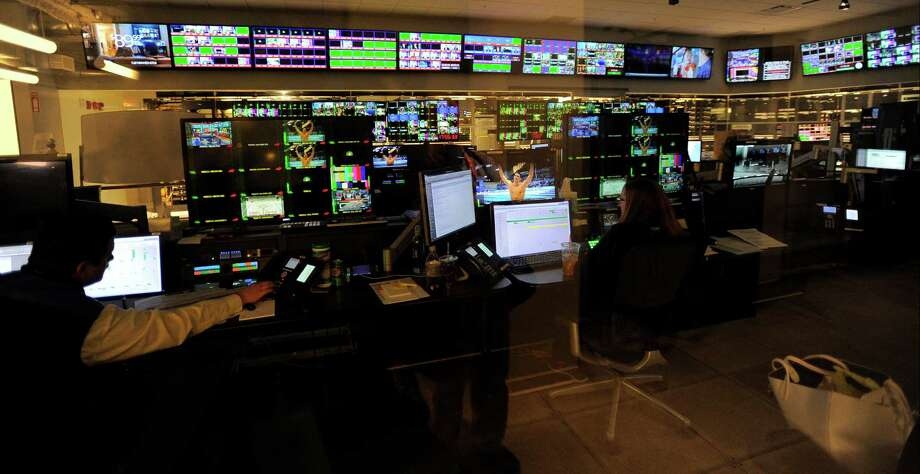 The Master Control room at NBC Sports Group in Stamford on May 10, 2016. Photo: Matthew Brown / Hearst Connecticut Media / Stamford Advocate