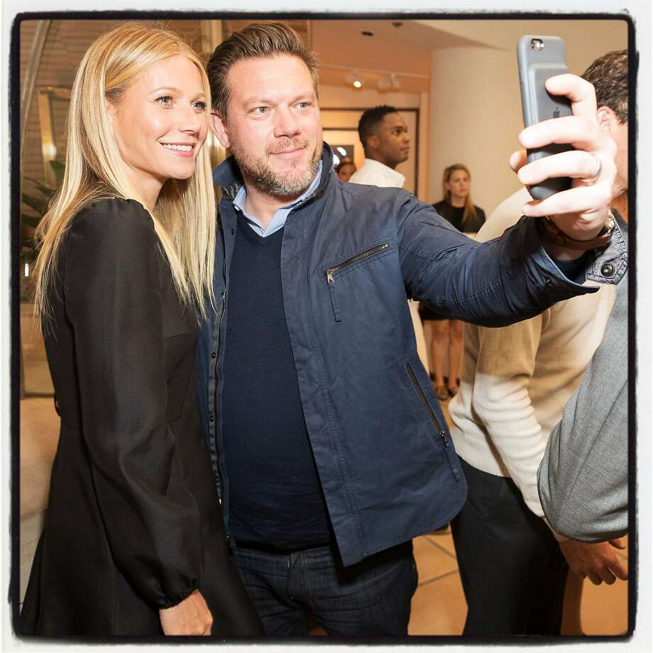 Goop founder Gwyneth Paltrow and chef Tyler Florence take a selfie at the Goop MRKT launch May 4. Photo: Drew Altizer, Special To The Chronicle