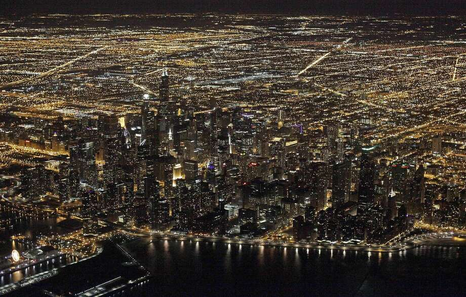 An aerial view of downtown Chicago, where George Lucas hoped to build his museum. Photo: Kiichiro Sato, Associated Press