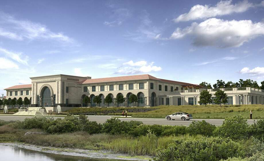"A revised design of the museum that George Lucas proposed to build at the Presidio across from the marsh at Crissy Field.  This artist's rendering shows the museum George Lucas proposed for Crissy Field. A federal review said the plan was rejected because ""Lucas was inflexible and unwilling"" to meet the guidelines for the site.  Courtesy the Lucas Cultural Arts Museum. Photo: LCAM"