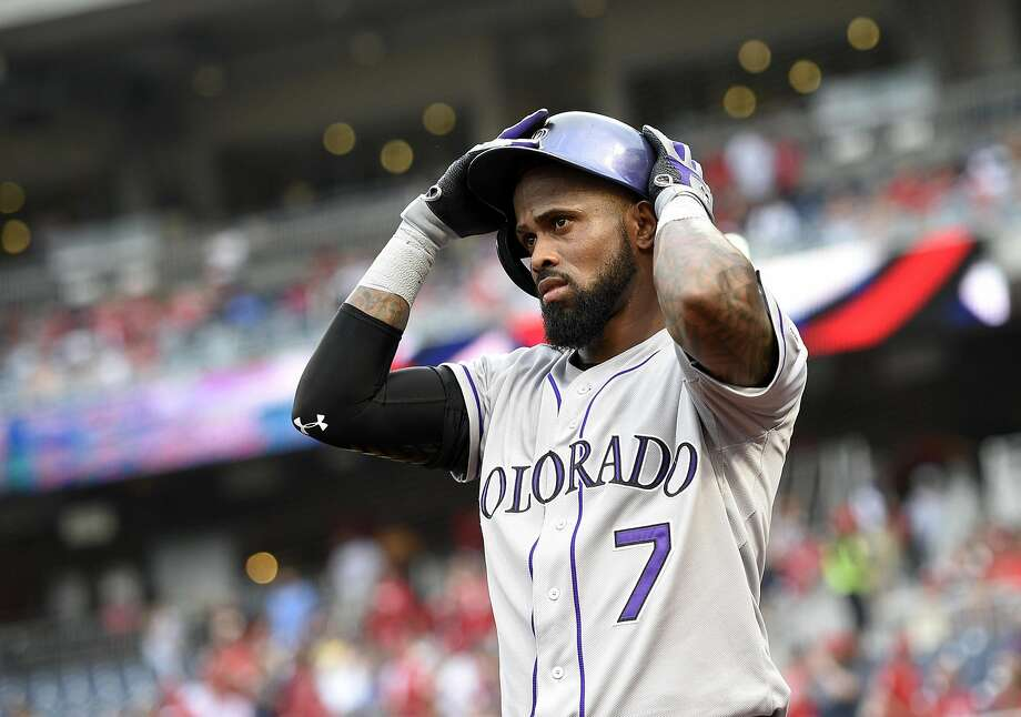 Rockies shortstop Jose Reyes has apologized for an alleged incident with his wife in October. Photo: Nick Wass, AP