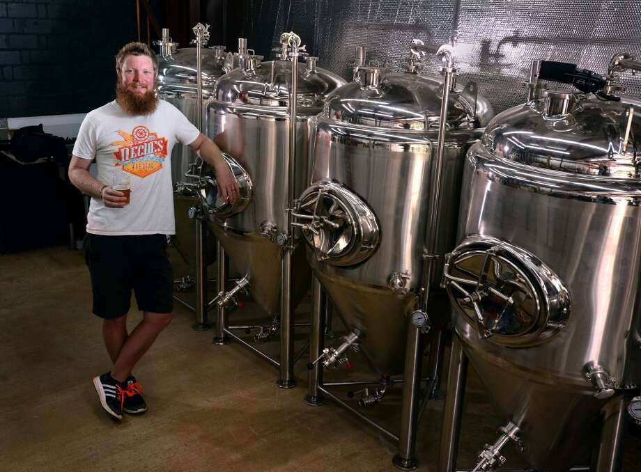 Tyler Blount in his brewery at Neches Brewing Company in Port Neches. Blount said he hopes to open the venue this summer. Photo taken Tuesday, May 03, 2016 Guiseppe Barranco/The Enterprise Photo: Guiseppe Barranco/The Enterprise