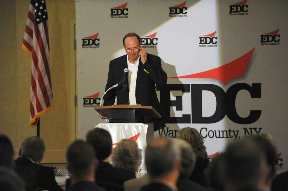 Philip Morse, who founded North American Medical Instruments Co. (NAMIC) and is vice chairman of the group that owns the Red Sox, gives the keynote speech during the Warren County EDC at Six Flags Great Escape Lodge on Friday May 13, 2016 in Queensbury, N.Y. (Michael P. Farrell/Times Union) Photo: Michael P. Farrell / 40036595A