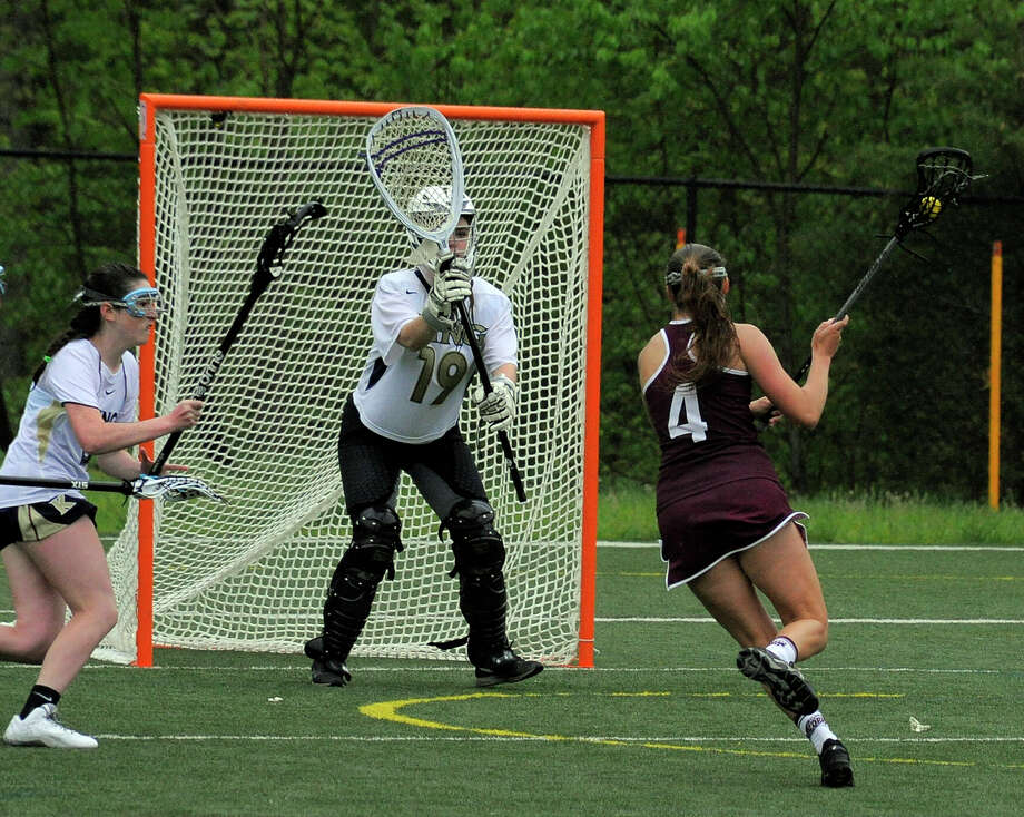 St. Luke's defeated King 14-12 in a girls lacrosse game at St. Luke's School in New Canaan on May 13, 2016. Photo: Matthew Brown, Hearst Connecticut Media / Stamford Advocate