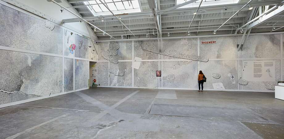 The Laura Owens installation at CCA Wattis Institute for Contemporary Arts. Photo: Johnna Arnold, Courtesy The Artist And�Gavin Brown�s Enterprise