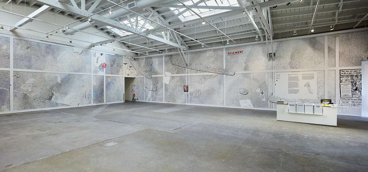 The Laura Owens installation at CCA Wattis Institute for Contemporary Arts.