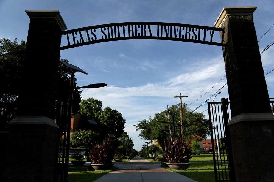 An entrance to Texas Southern University in the Third Ward in Houston, Texas. ( Gary Coronado / Houston Chronicle ) Photo: Gary Coronado, Staff / Â 2014 Houston Chronicle