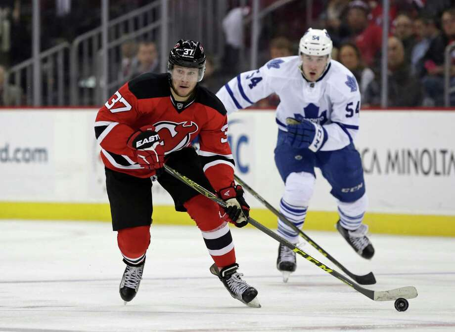 NEWARK, NJ - APRIL 9: Pavel Zacha #37 of the New Jersey Devils in action against the Toronto Maple Leafs during the second period at the Prudential Center on April 9, 2016 in Newark, New Jersey. (Photo by Adam Hunger/Getty Images) ORG XMIT: 574716087 Photo: Adam Hunger / 2016 Getty Images