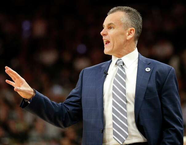 Oklahoma City Thunder head coach Billy Donovan calls a play during first half action of Game 5 in the Western Conference semifinals against the San Antonio Spurs Tuesday May 10, 2016 at the AT&T Center. Photo: Edward A. Ornelas, Staff / San Antonio Express-News / © 2016 San Antonio Express-News