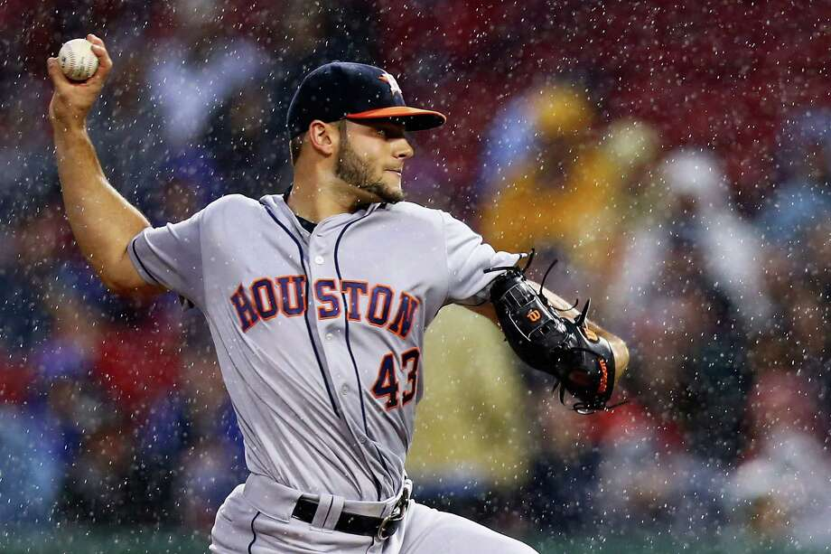 BOSTON, MA - MAY 13:  Lance McCullers #43 of the Houston Astros pitches against the Boston Red Sox during the second inning on May 13, 2016 in Boston, Massachusetts. Photo: Maddie Meyer, Getty Images / 2016 Getty Images