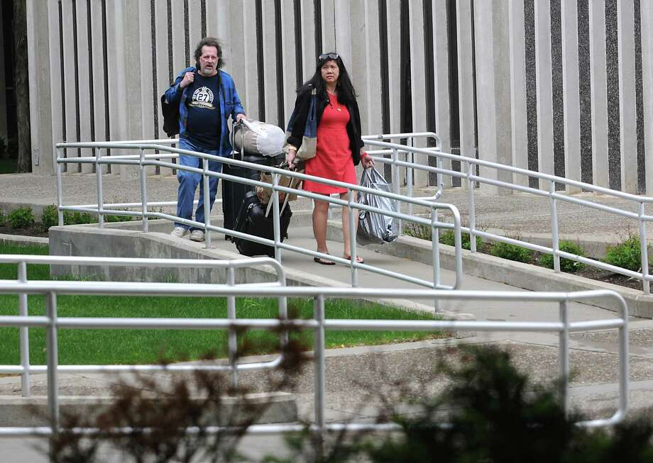 Parents help their children move out of their dorm at University at Albany on Friday, May 13, 2016 in Albany, N.Y. (Lori Van Buren / Times Union) Photo: Lori Van Buren