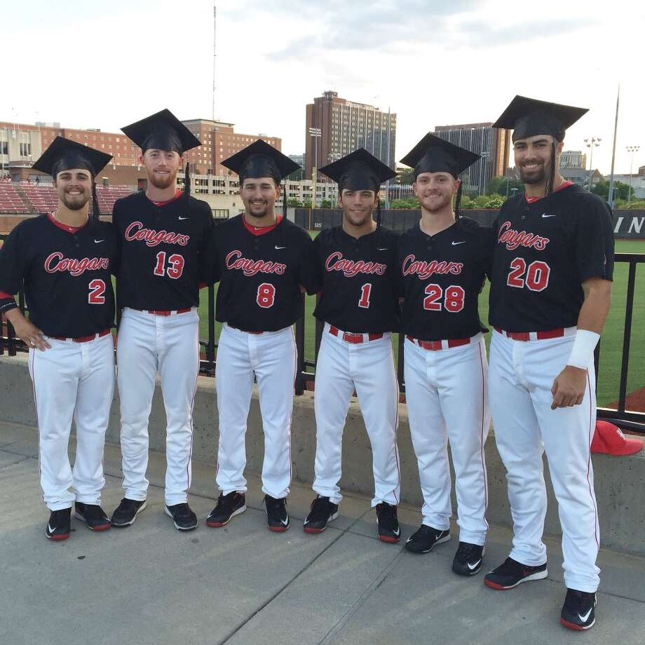 Six University of Houston baseball players took graduation on the road this weekend. Photo: Courtesy University Of Houston
