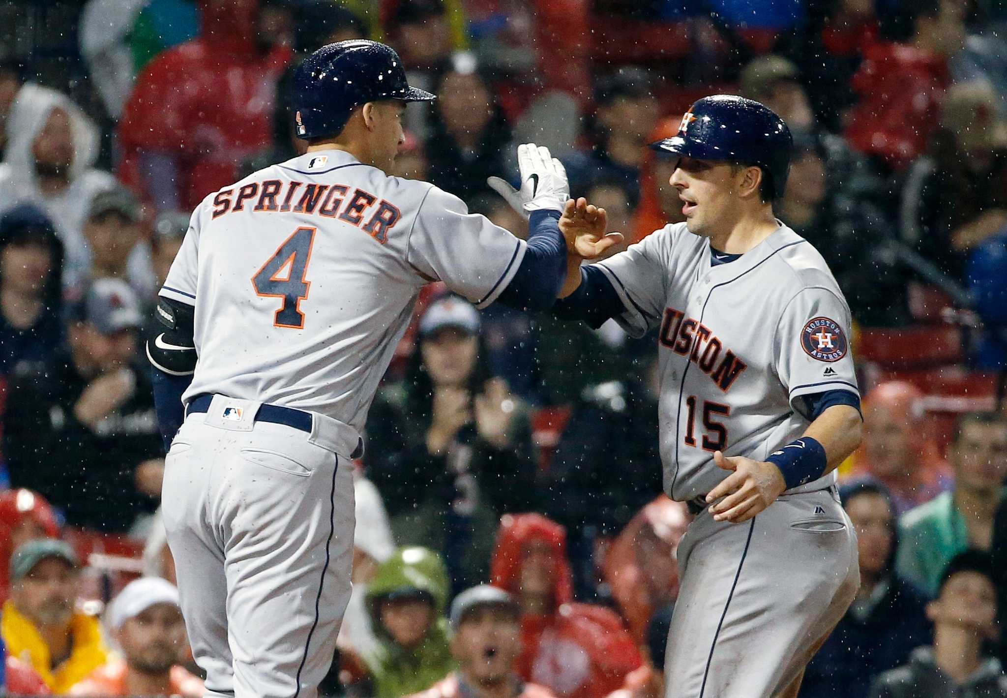 George Springer leads Astros over Red Sox - Houston Chronicle