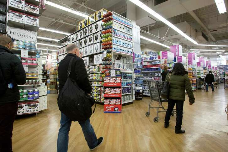 In this Tuesday, April 5, 2016, photo, customers shop at a Bed Bath & Beyond, in New York. On Friday, May 13, 2016, the Commerce Department releases U.S. retail sales data for April. (AP Photo/Mark Lennihan)