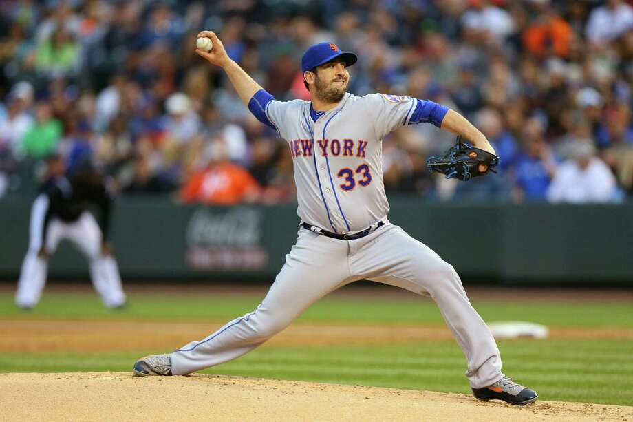 DENVER, CO - MAY 13:  Starting pitcher Matt Harvey #33 of the New York Mets delivers to home plate during the second inning against the Colorado Rockies at Coors Field on May 13, 2016 in Denver, Colorado. (Photo by Justin Edmonds/Getty Images) ORG XMIT: 607677551 Photo: Justin Edmonds / 2016 Getty Images