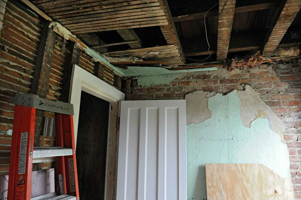 Ongoing restoration is seen on the top floor at the Kate Mullany Historic Site on Tuesday, May 3, 2016 in Troy, N.Y. (Lori Van Buren / Times Union)