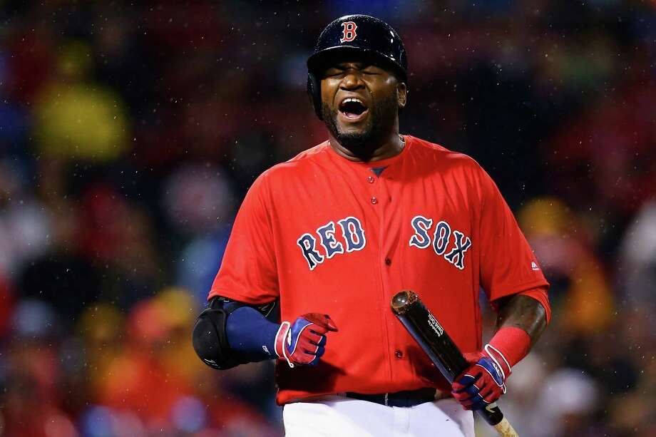BOSTON, MA - MAY 13:  David Ortiz #34 of the Boston Red Sox reacts during the third inning against the Houston Astros on May 13, 2016 in Boston, Massachusetts.  (Photo by Maddie Meyer/Getty Images) ORG XMIT: 607677573 Photo: Maddie Meyer / 2016 Getty Images