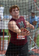 Magnolia senior Spencer Nigh competes during the Boys Conference 5A Discus event at the UIL Track & Field Championships at Mike R. Meyers Stadium on the campus of The University of Texas at Austin on Friday, May 13, 2016. (Photo by Jerry Baker/Freelance)