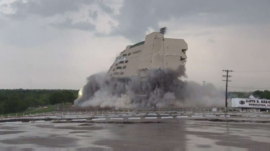 Baylor's Floyd Casey Stadium - home to the Baylor football team for 64 years - was imploded on Saturday morning. Photo: KWTX