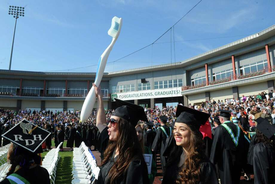 Hudson Valley Community College held it's 62nd Commencement at Joseph L. Bruno Stadium on Saturday May 14, 2016 in Troy, N.Y. (Michael P. Farrell/Times Union) Photo: Michael P. Farrell / 10036381A