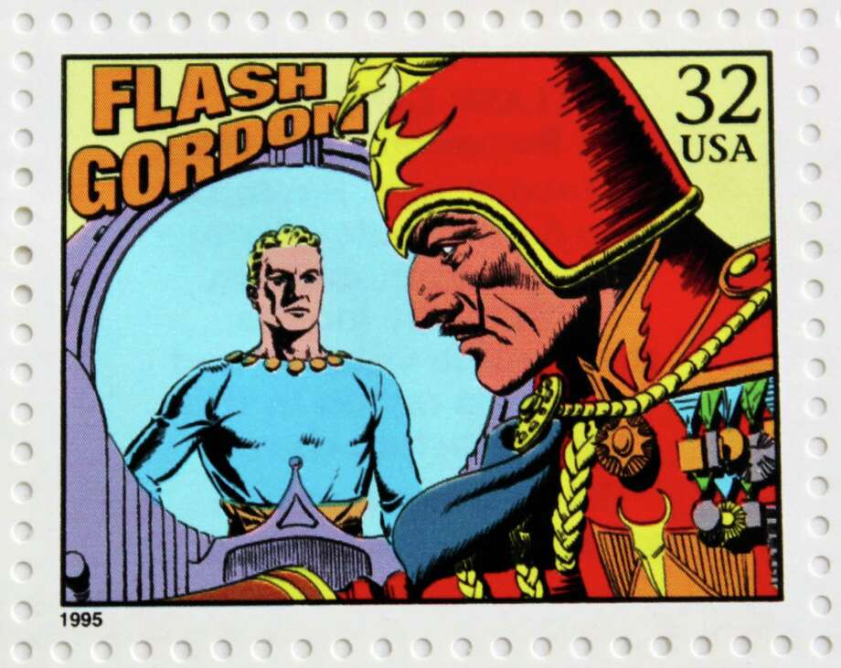 "Alex Raymond's ""Flash Gordon"" was featured as part of a 1995 U.S. Postal Service stamp series honoring the centennial of newspaper comics. Raymond was a longtime Stamford, Connecticut, resident. Photo: Contributed Photo / Stamford Advocate  contributed"