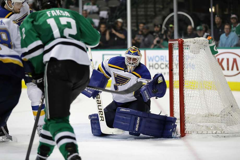 The Blues' Brian Elliott, who has made 31 career postseason starts, has a 2.29 goals-against average in the 2016 playoffs. Photo: Ronald Martinez, Getty Images