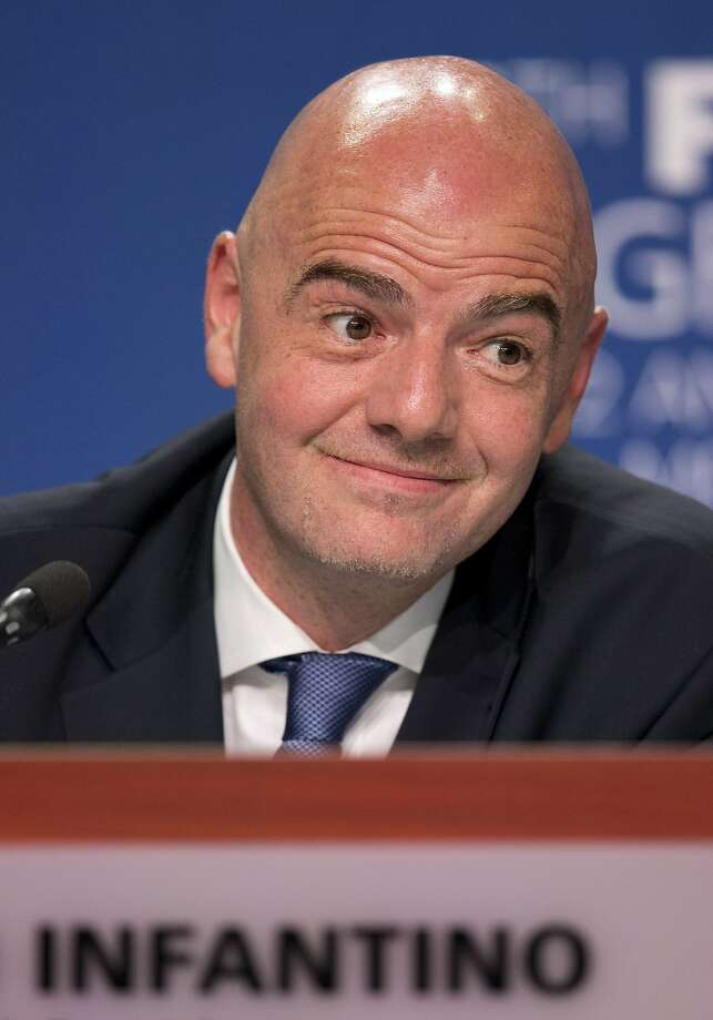 Gianni Infantino became FIFA president on Feb. 26, replacing Sepp Blatter. Photo: Rebecca Blackwell, Associated Press